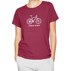 Life is Good Wild Cherry XXL Spokes Woman T-shirt